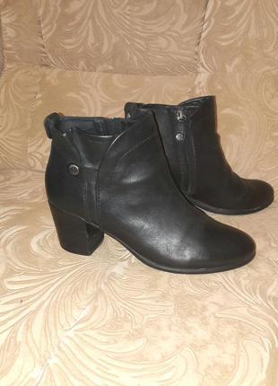 Кожаные ортопедические ботинки ботильоны высокие туфли оригина...
