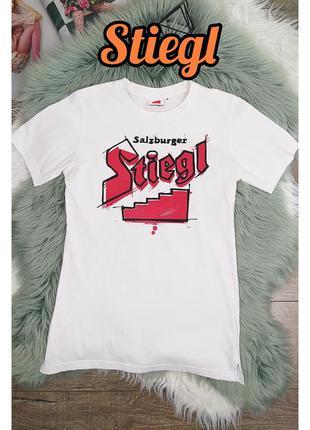 #розвантажуюсь stiegl m/38 белая хлопковая футболка с принтом