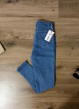 Синие джинсы скинни размеры 26, 27, 28