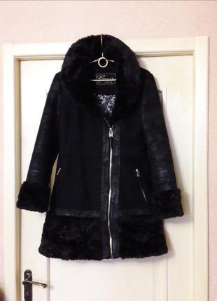 Крутое пальто косуха м-л