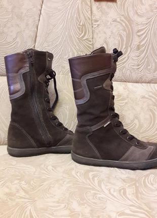 Высокие замшевые кеды ботинки на змейке и на термоподкладке 22...