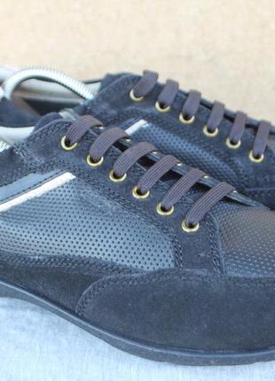 Новые кроссовки geox кожа италия оригинал 45р кеды мокаины