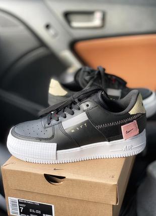 Nike air force n. 354 black 🔺 женские кроссовки найк еир форс