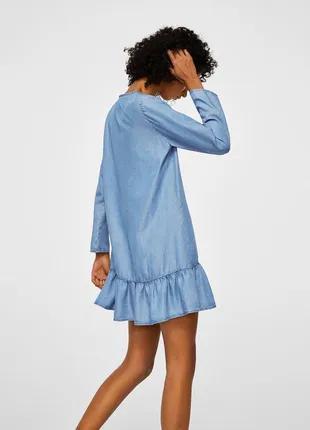 Стильное джинсовое платье mango