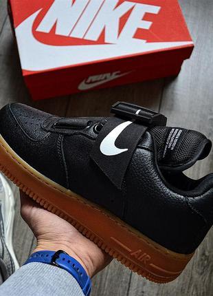 Nike air force 1 utility qs 'black gum' 🔺 мужские кроссовки на...