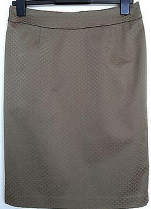 """Уютная юбка цвета хаки с необычным вытканным рисунком """"чешуя"""""""
