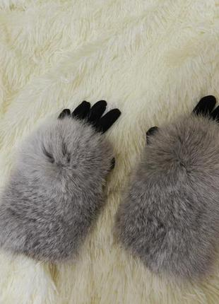 Перчатки мех демисезон