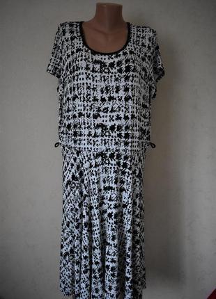 Трикотажное платье с принтом большого размера george