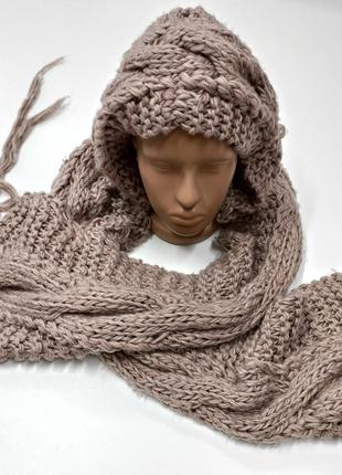 Вязаний шарф – шапка