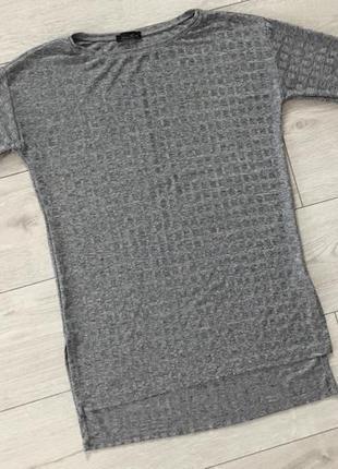 Кофта, світер, блуза, туніка колір серебро, тренд 2020, серая ...