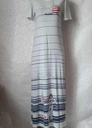 Фирменное ackermann оригинальное платье в пол/футболка с морск...