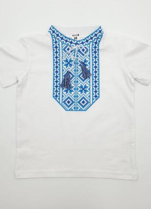 Детская футболка вышиванка на мальчика белая