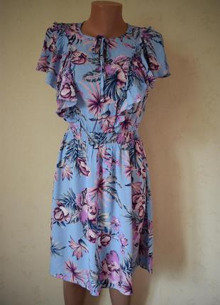 Натуральное платье с принтом f&f