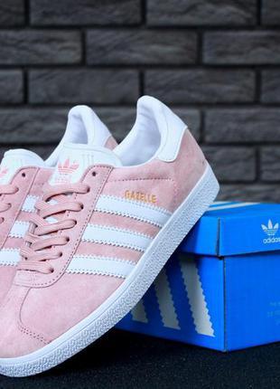 Adidas gazelle pink🔺 женские кроссовки адидас газели розовые
