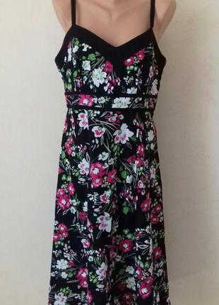 Льняное платье с принтом tu