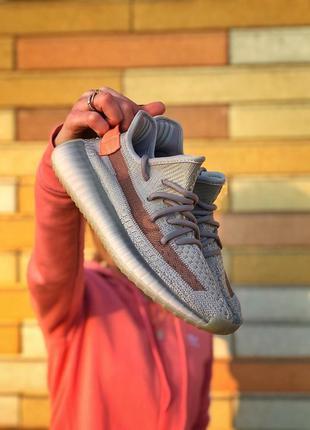 Adidas yeezy boost 350 grey/orange 🔺 женские кроссовки адидас ...