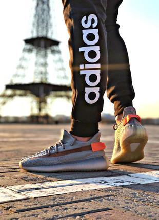 Adidas yeezy boost 350 grey/orange 🔺мужские кроссовки адидас и...