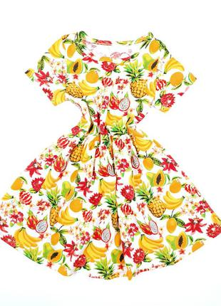 Яркое летнее платье на девочку