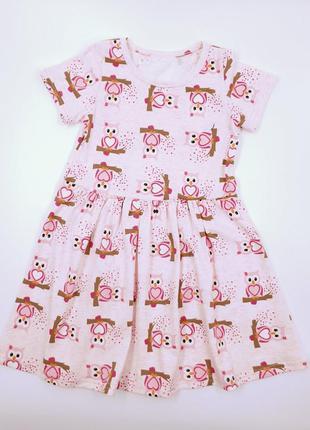 Летнее розовое платье на девочку