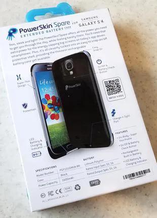 Бампер с аккумулятором PowerSkin Spare для Samsung Galaxy S4 (675