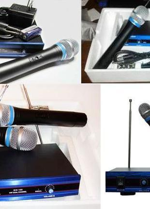 Радиомикрофон микрофон UKS 200XL.Радиосистема+2 беспроводных м...