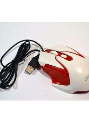 USB мышка MOUSE Jedel M85 проводная мышь с подсветкой красная\...