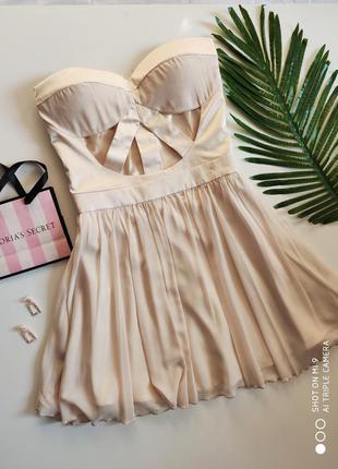Платье бандажное rare london🔥 платье с пышной юбкой фатин