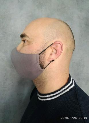 Маска защитная для лица, многоразовая.