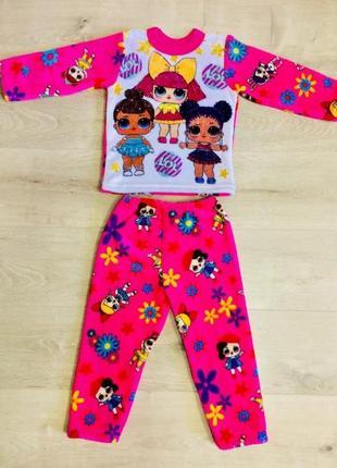Теплая пижама с куклами лол
