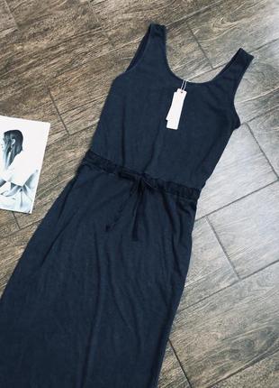 Очень стильное натуральное летнее макси платье большого размера