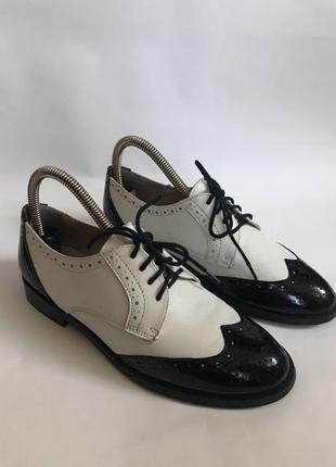 Фирменные кожаные туфли, оксфорды от Mint&Berry 36