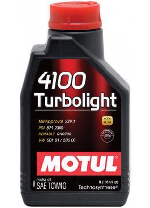 Моторное масло Motul 4100 Turbolight 10w40 4л.
