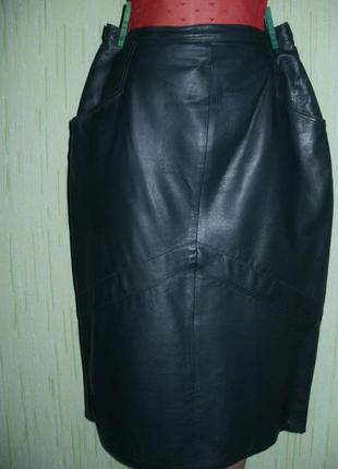 Vip.отличная юбка из натуральной мягкой кожи .