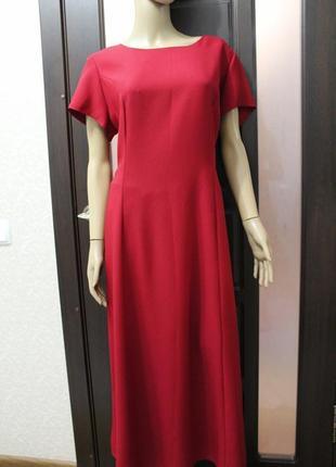 Платье винного цвета 18-46 west.one