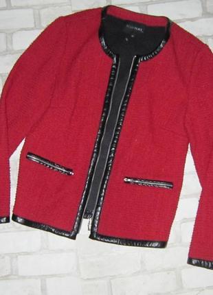 Шикарный элегантный пиджак -кардиган , цвета марсала, со встав...