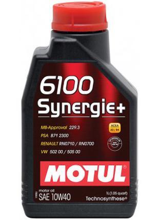 Моторное масло Motul 6100 Synergie+ 10w40 4л.