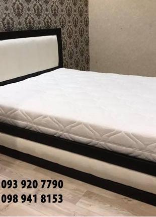 Двоспальне ліжко. Ліжко з підйомним механізмом .Масив бука