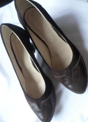 Туфли натуральная замша, каблук 7 см.