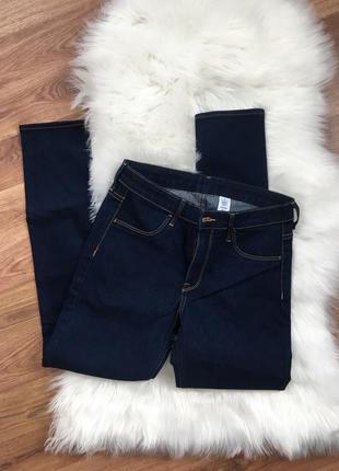 Темно синие джинсы скини