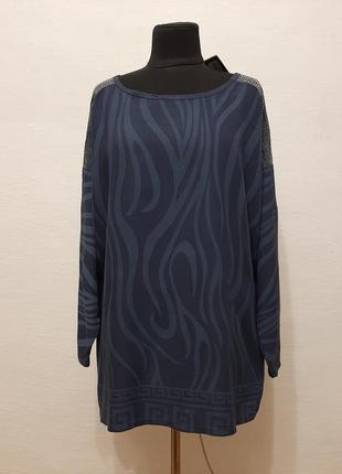Стильная модная итальянская блуза большого размера