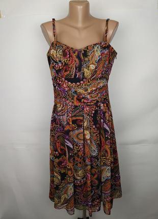 Платье шелковое стильное в орнамент ted baker uk 14/42/l