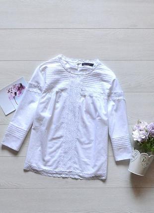 Красива біла рубашка з кружевом m&s