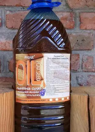 Льняное масло Frost –натуральный антисептик для древесины 1Л