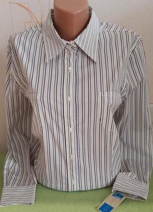 Стрейчевая рубашка в полоску covington stretch made in philipp...