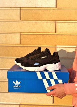 Мужские кроссовки adidas falcon black 😍