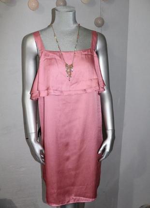 Розовое платье h&m
