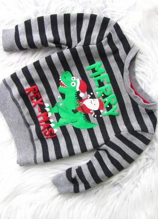 Стильная кофта свитер свитшот primark дино санта новый год   н...