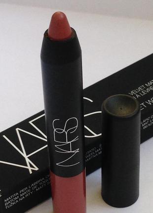 Nars матовая помада-карандаш для губ velvet matte lip pencil