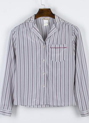 Классическая рубашка под атлас, женская рубашка в полоску, атл...