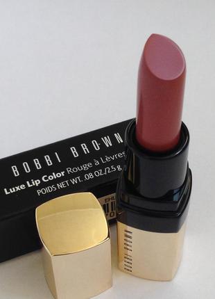 Помада делюкс-миниатюра bobbi brown luxe lip color rouge a lev...